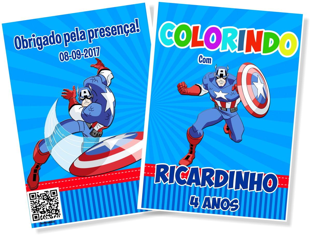 Livro De Colorir 10x15 - Capitão América No Elo7