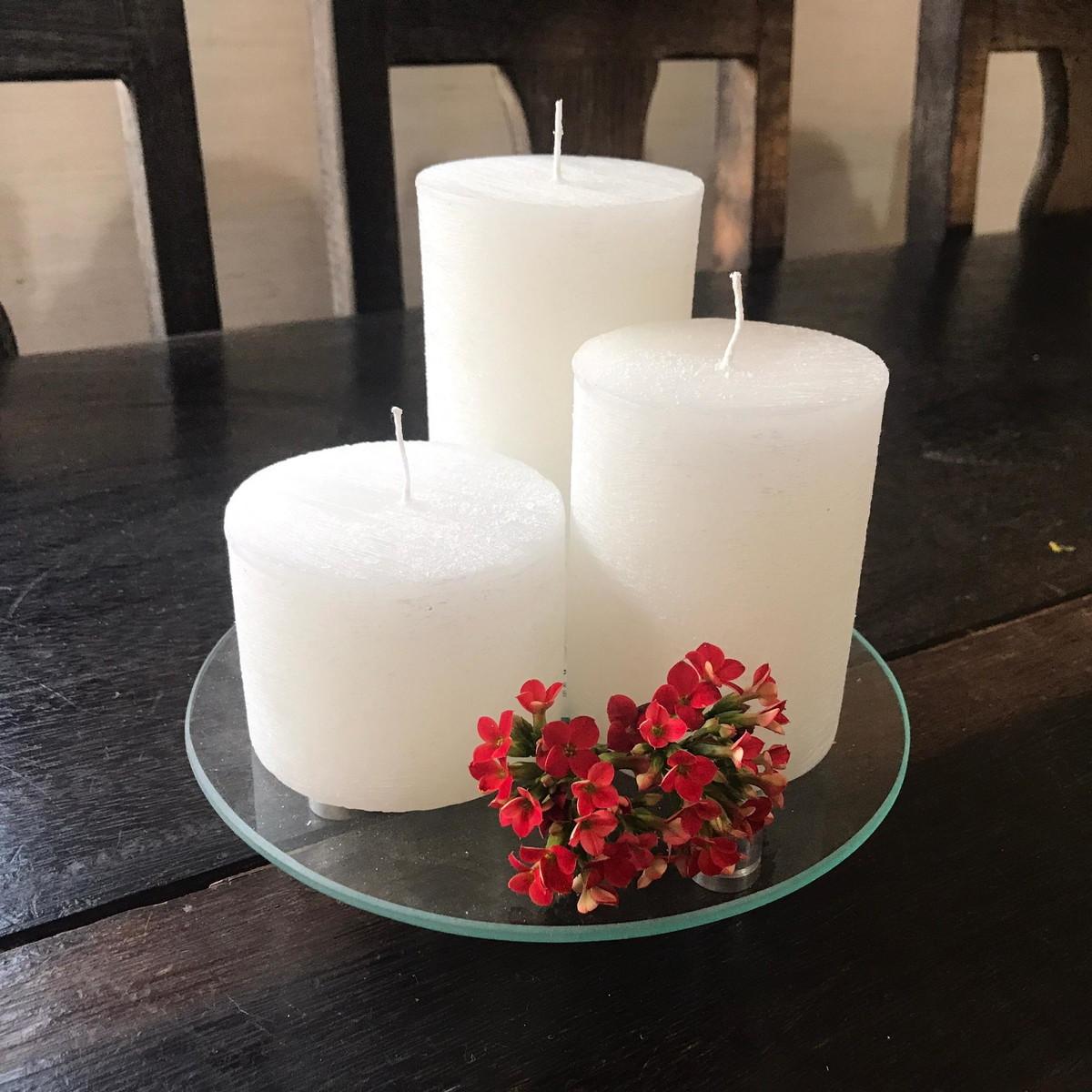 Trio de velas decorativas com suporte no elo7 velas - Velas decorativas ...