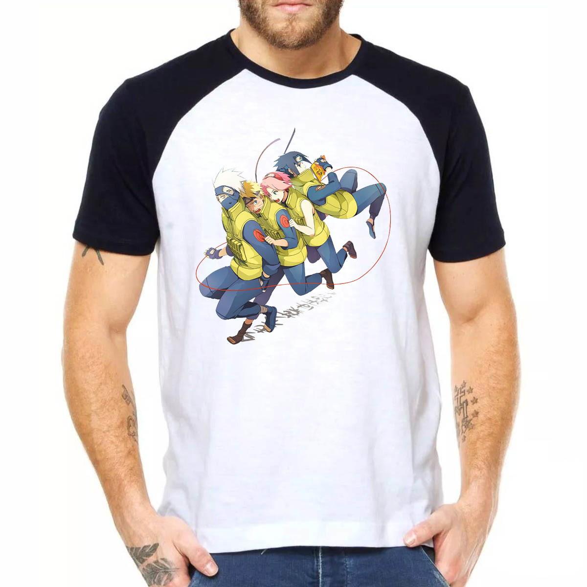 Camiseta Raglan Naruto Kakashi 1122