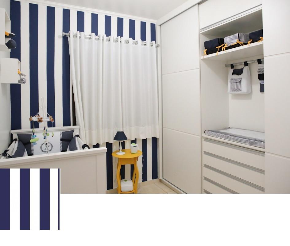Papel de parede listras azul quarto beb no elo7 sete - Papel para paredes baratos ...