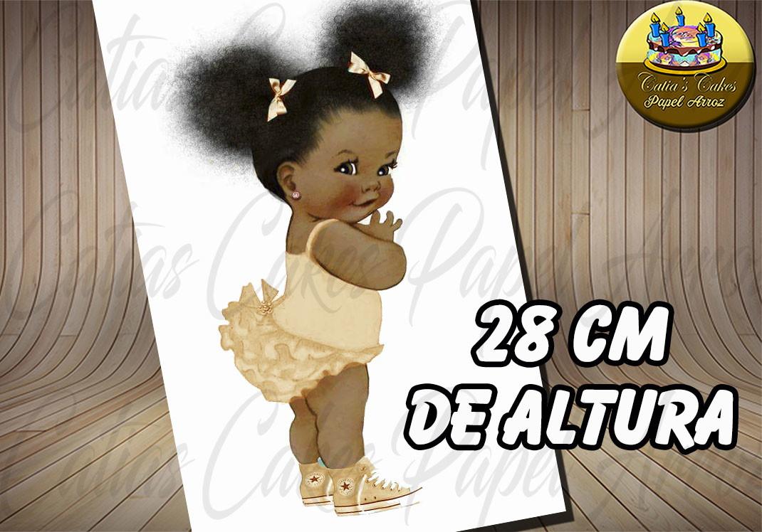 Beb 234 Black Power Papel De Arroz A4 No Elo7 Catias Cakes
