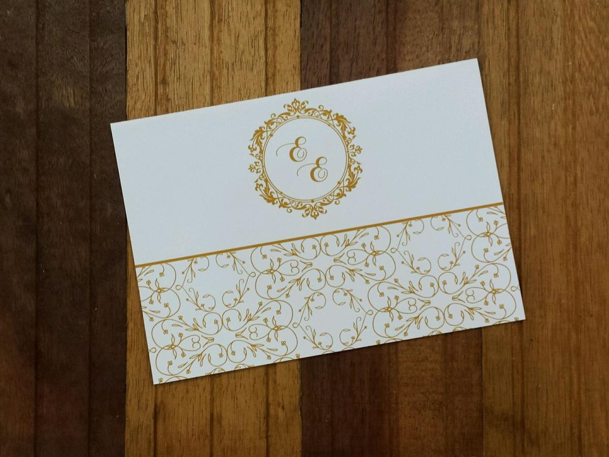 ee2401b6f Convite casamento - Convite 15 anos -240g dourado barato no Elo7 ...
