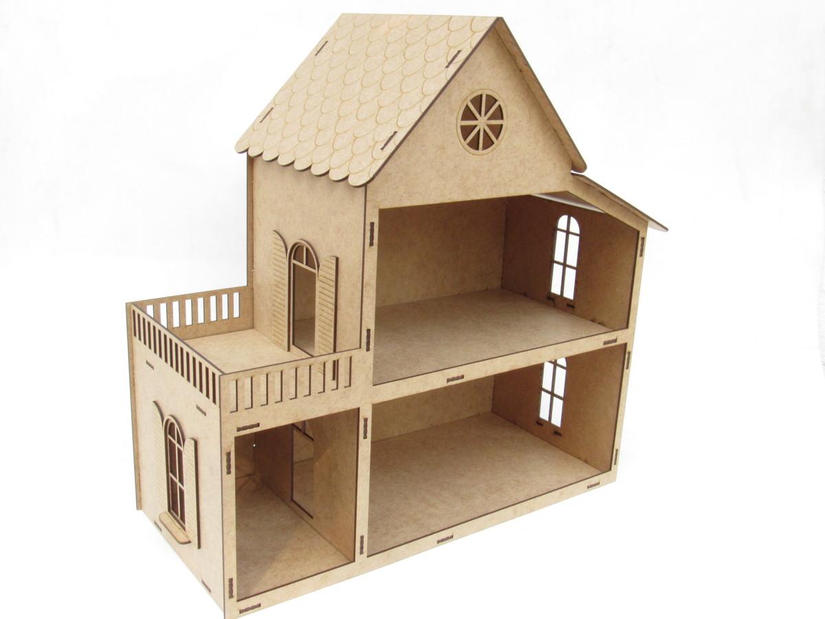 b31d75efd Casa Boneca Polly 44cm mdf cru Presentes no Elo7