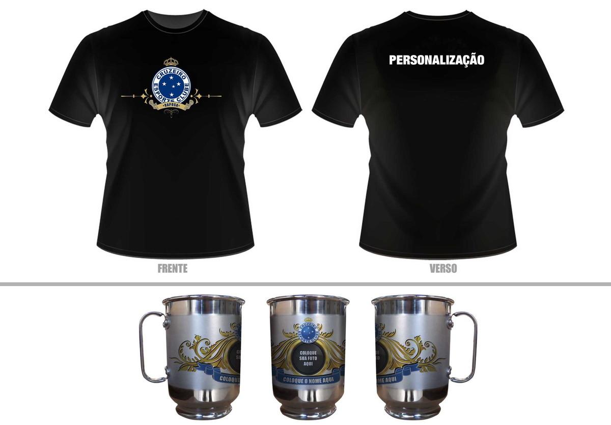 Kit Camiseta + Caneca personalizada Cruzeiro no Elo7  371bc3dfd152e
