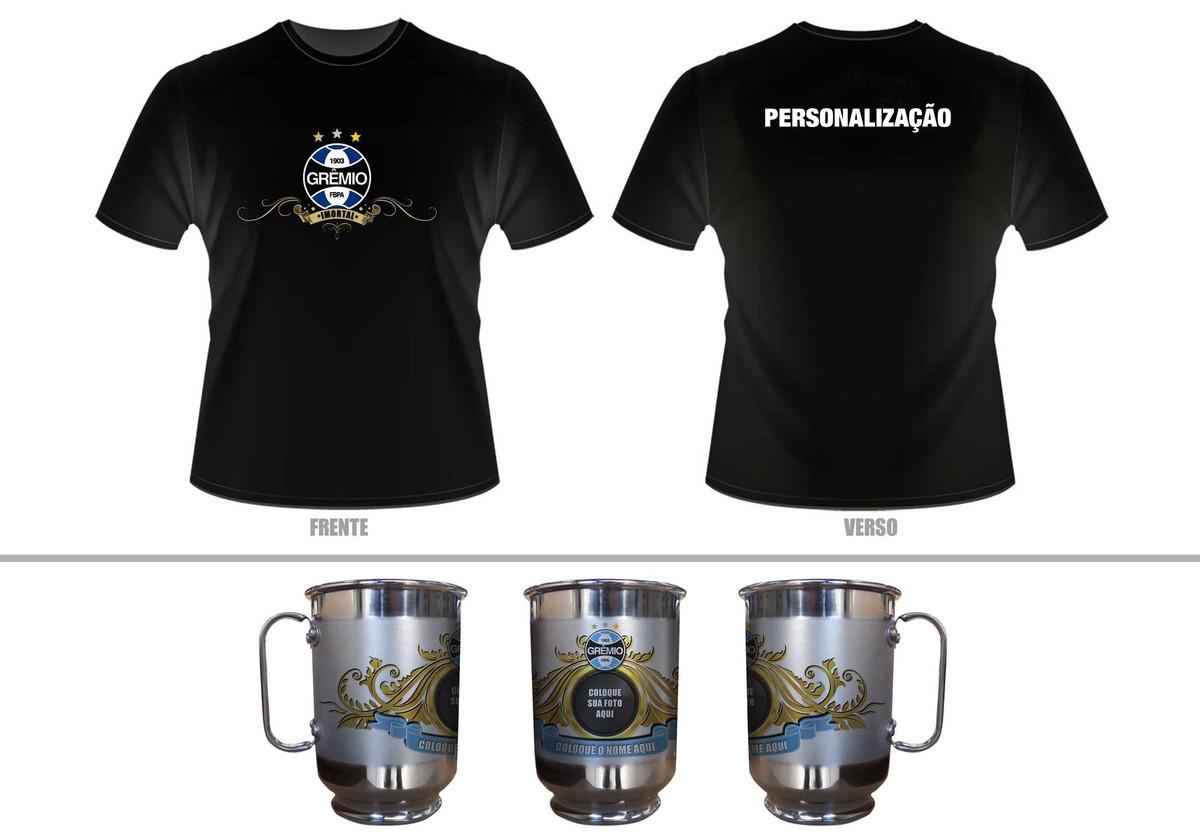 Kit Camiseta + Caneca personalizada Gremio no Elo7  538c481b8261d