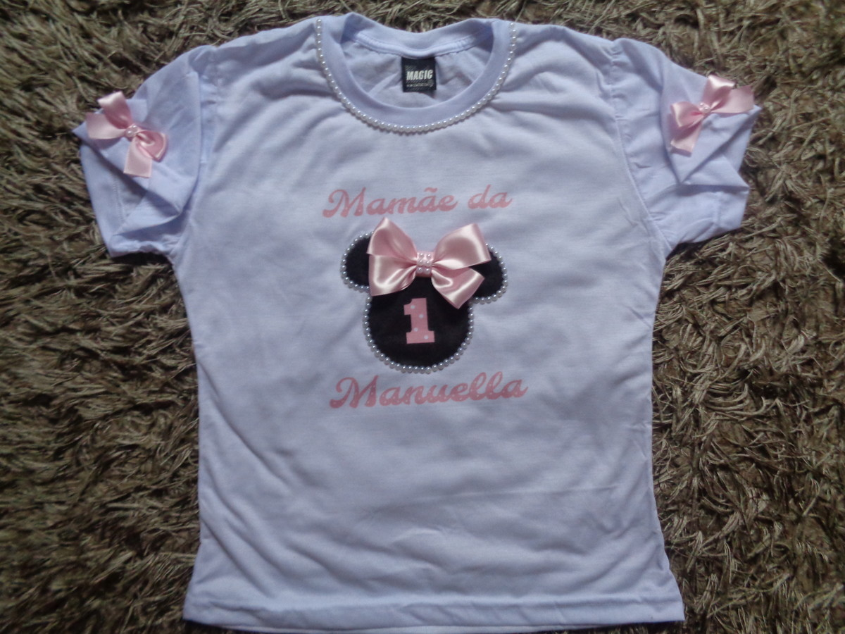 ac036e558a Camiseta Minnie rosa adulto Personalizada no Elo7