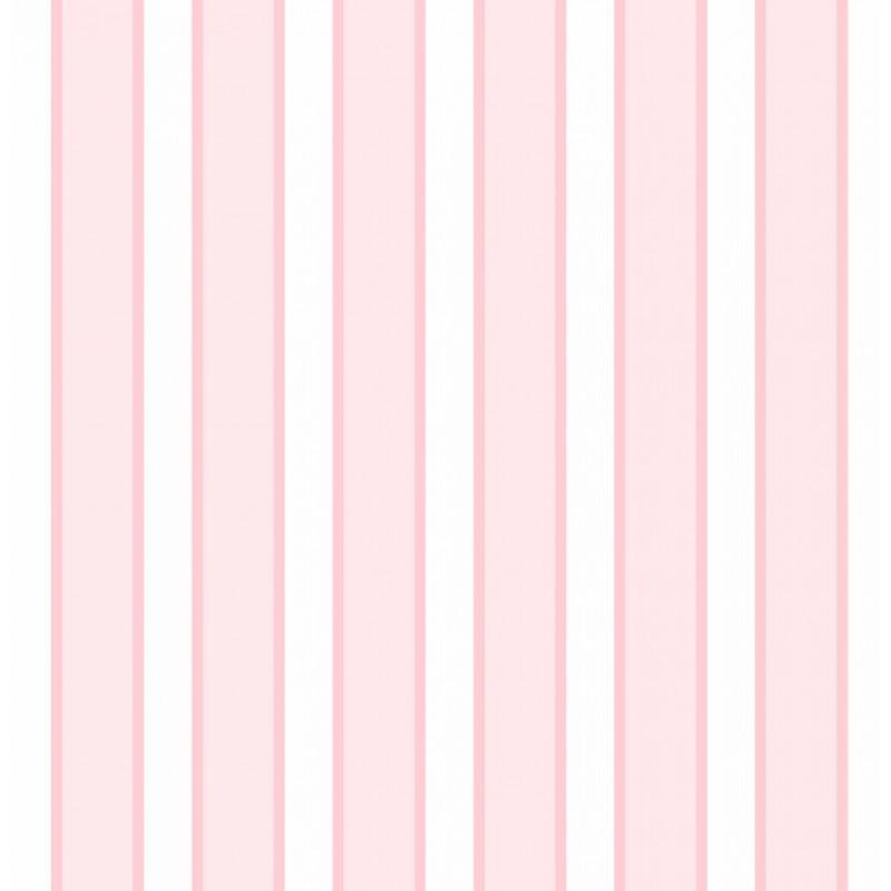 Papel de Parede Listrado Rosa e Branco Listras no Elo7 ...