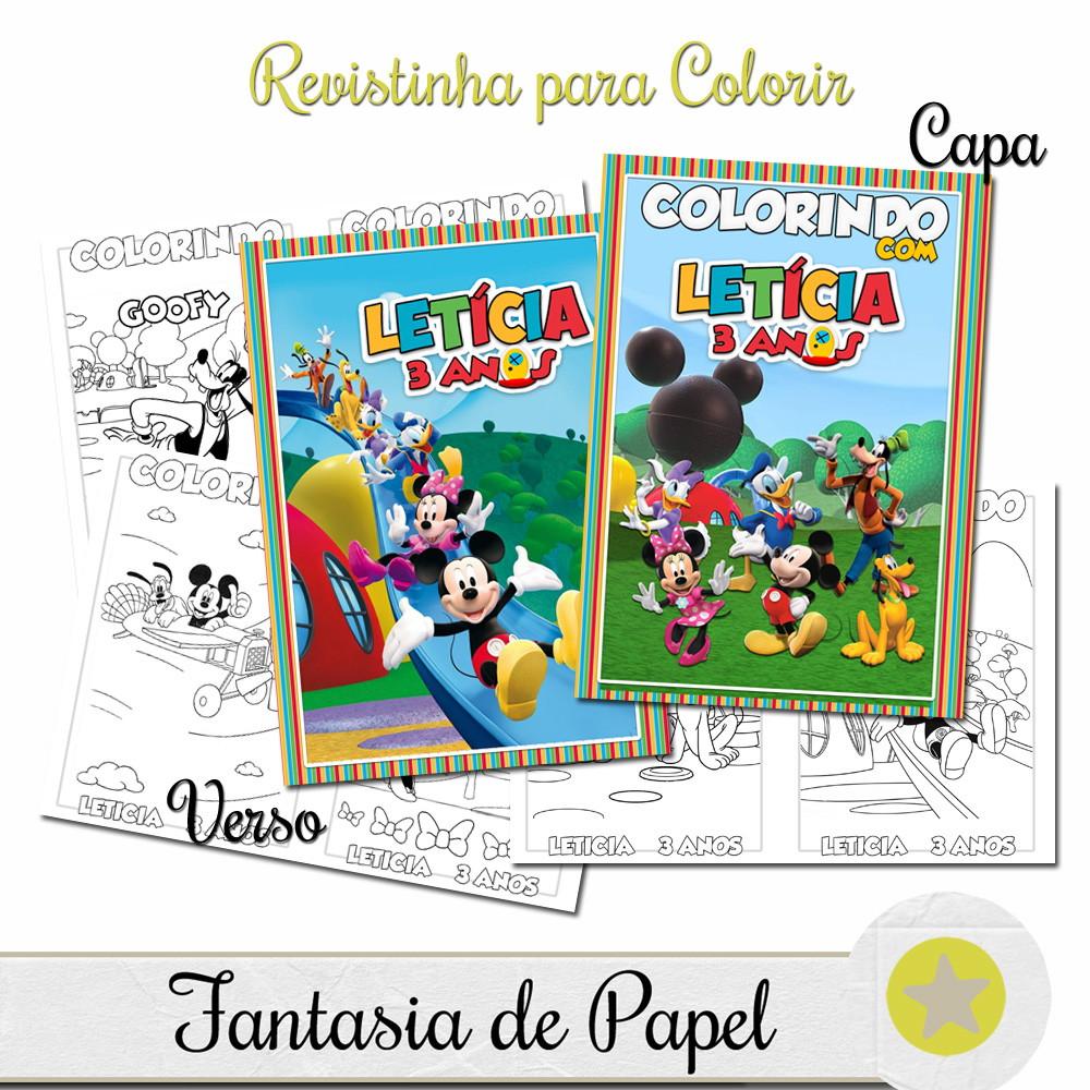 Revistinha Para Colorir Casa Do Mickey 14x10 No Elo7 Fantasia De
