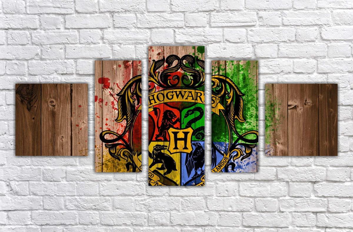 Zoom · Quadro Decorativo Harry Potter Filme Mosaico 5 Pçs 05 Part 78
