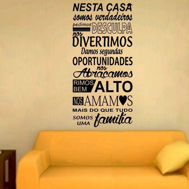 Adesivo Decorativo Frase Amor De Familia No Elo7 Adesivos Dicolar