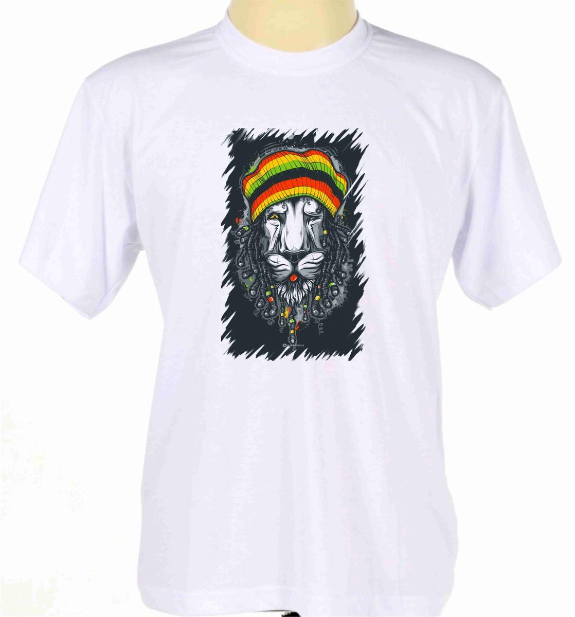 camisa camiseta reggae bob marley rastafari jamaica leão no Elo7 ... 11bf17a90c4