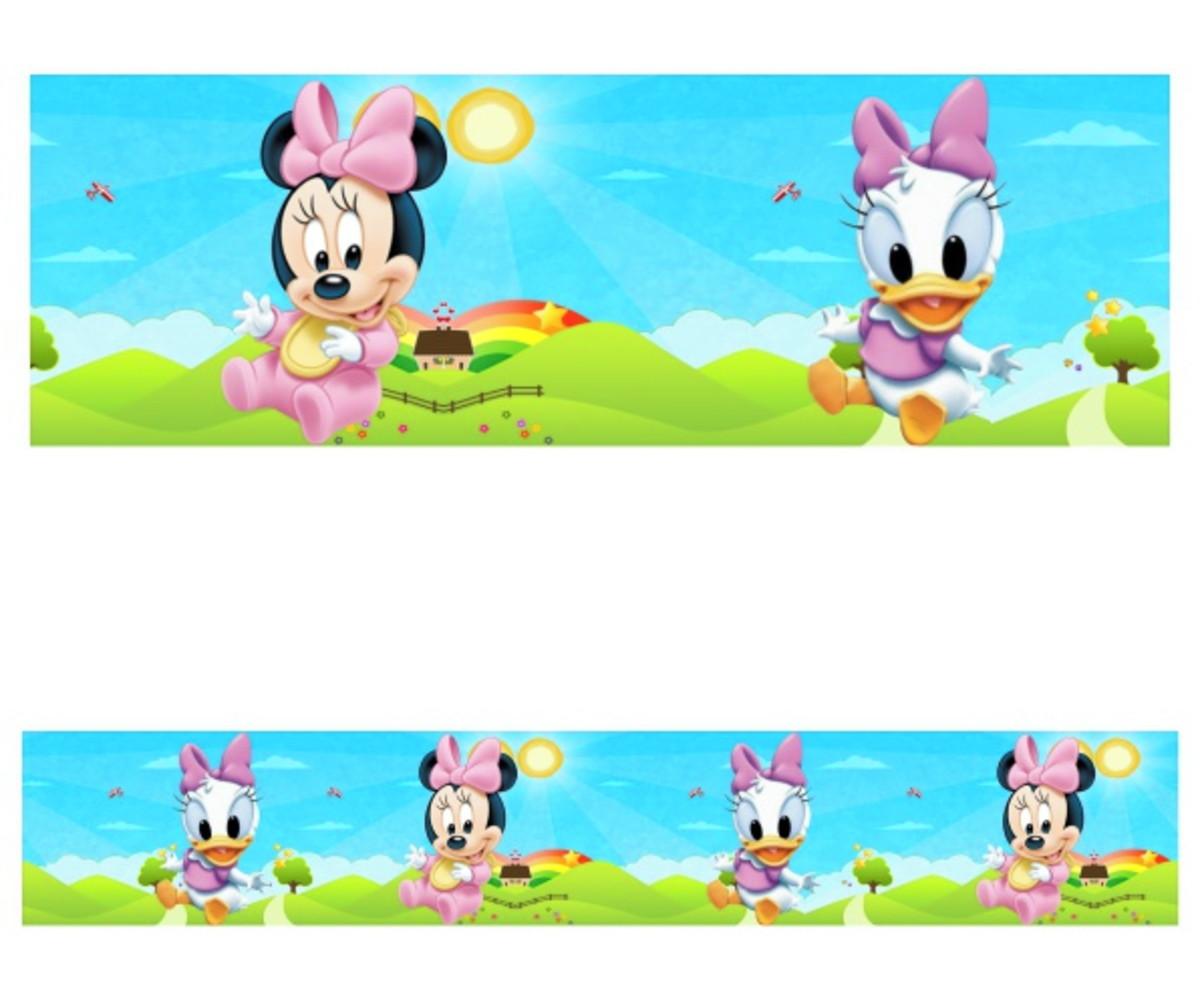 Adesivo Border Infantil Com Desenhos Baby Disney Mod009 No Elo7