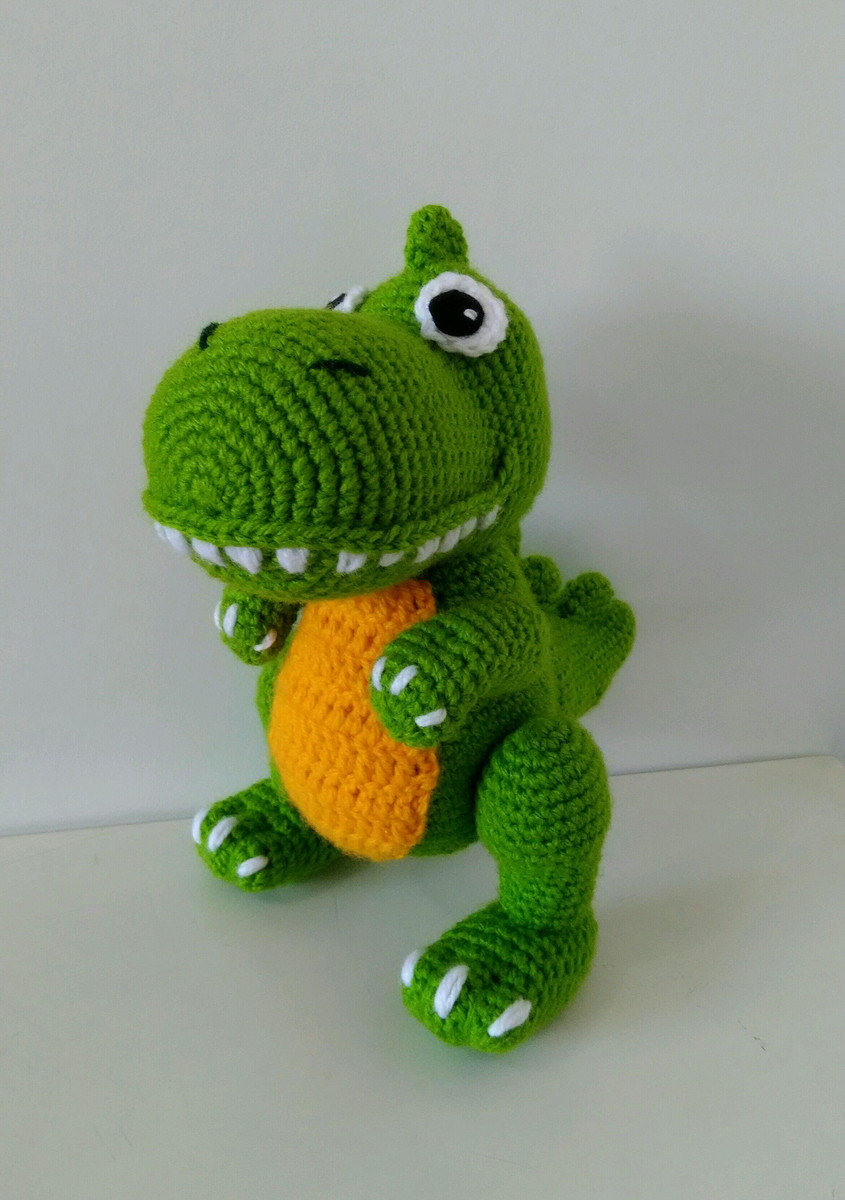 Dinossauro De Crochê Amigurumi - R$ 120,00 em Mercado Livre | 1200x845