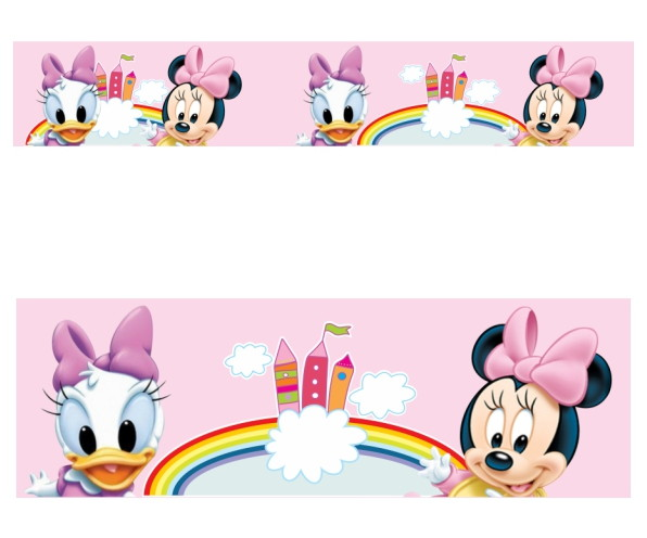 Adesivo Border Infantil Baby Disney Margarida Minnie Mod021 No