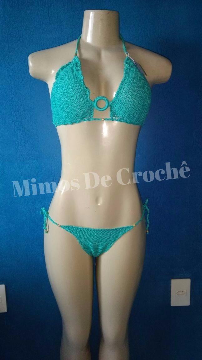 8e00bb283eeb Biquíni de crochê Azul Turquesa no Elo7 | Mimos De Crochê ! (A4A3BA)