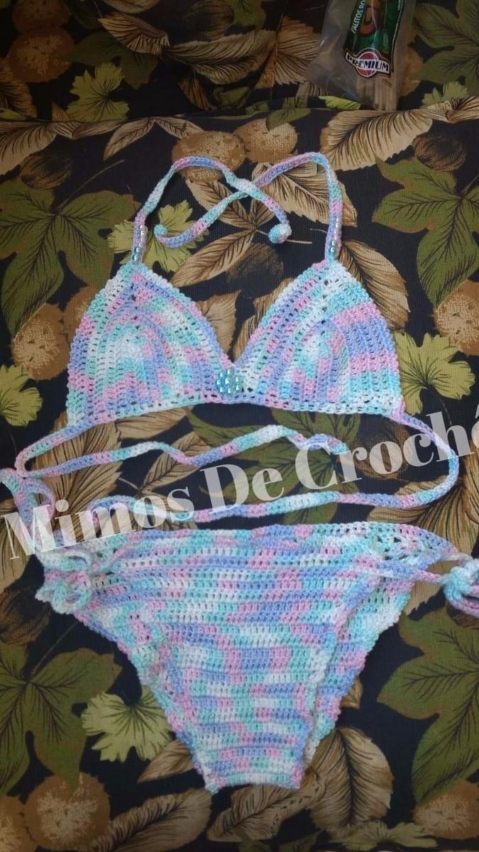 494b74b8d44f Biquíni de crochê coloridinho para criança no Elo7 | Mimos De Crochê ...