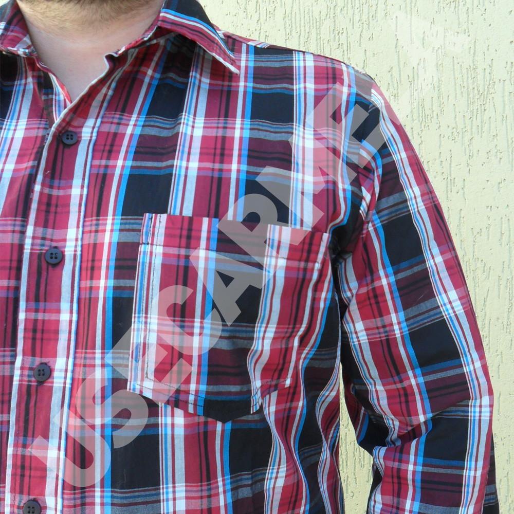 7977867e81 Camisa Masculina - Xadrez Vermelha e Preta no Elo7