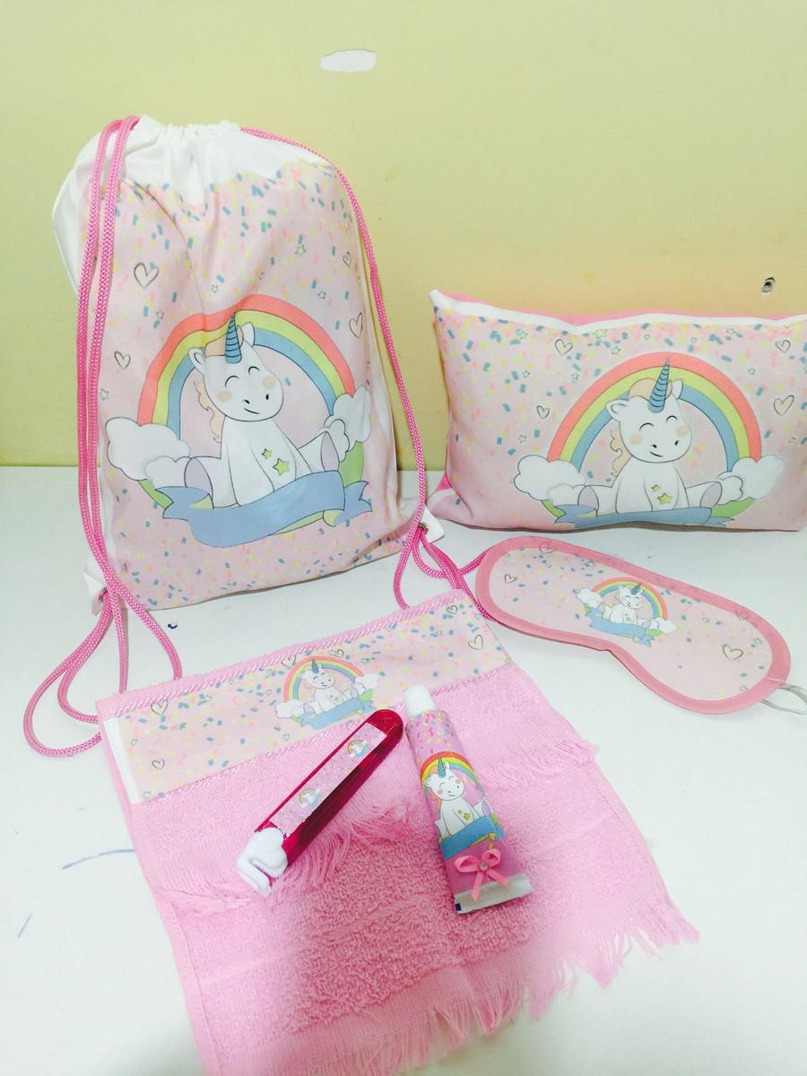 Zoom · kit festa do pijama unicornios