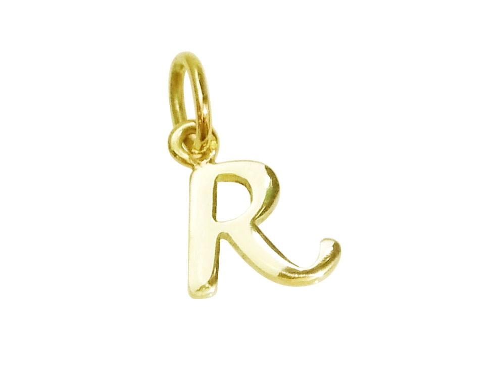 Pingente Letra R Infantil em Ouro 18k no Elo7   Atelier de Joias ... c4a63f4a09