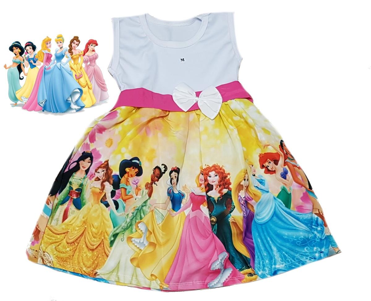 Princesas Disney Vestido Infantil Temático