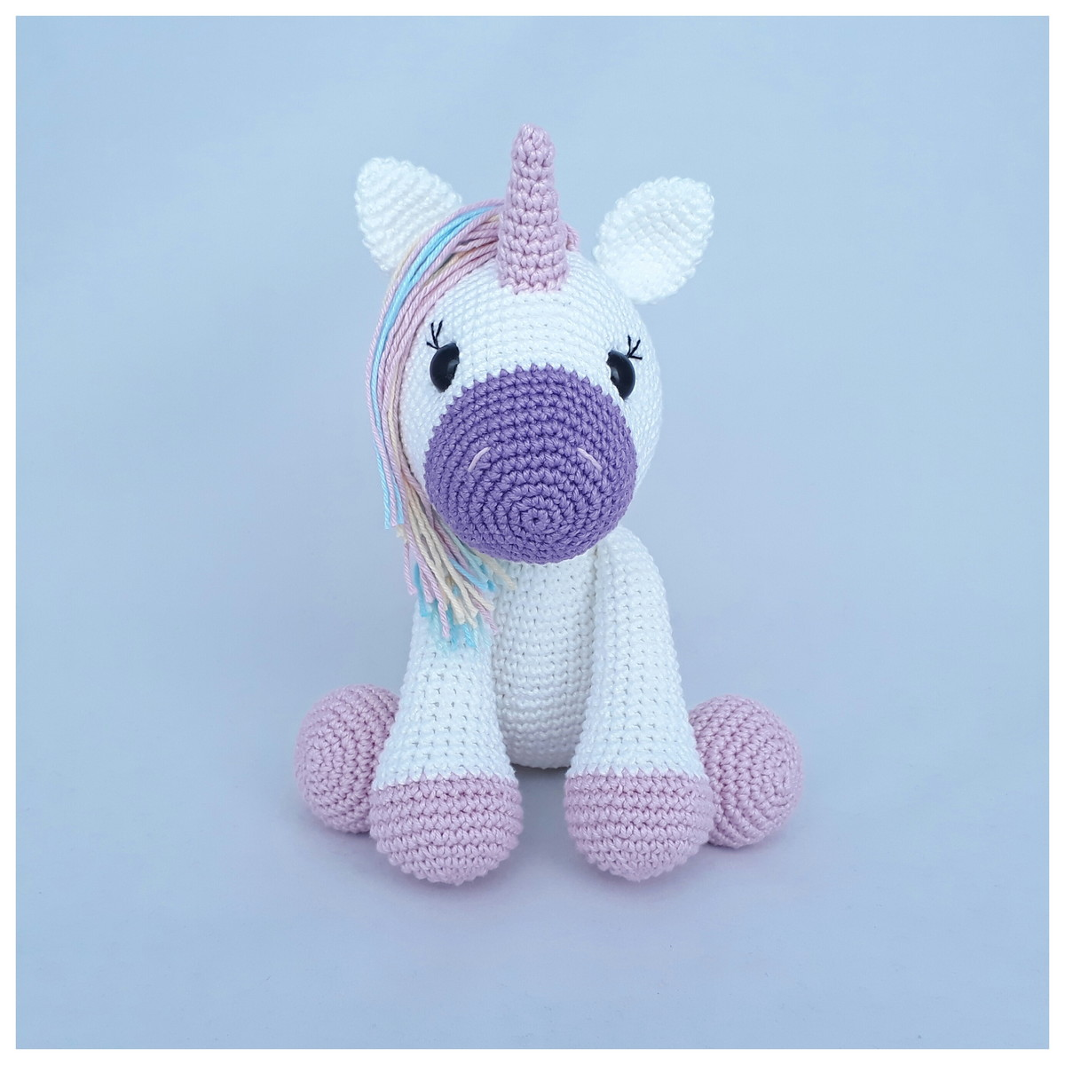 CROCHET PATTERN in English and Spanish - Mimi the Friendly Unicorn ... | 1200x1200