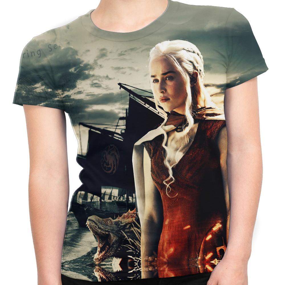 e3ac831cb Camiseta Baby Look Feminina Game Of Thrones Md05 no Elo7