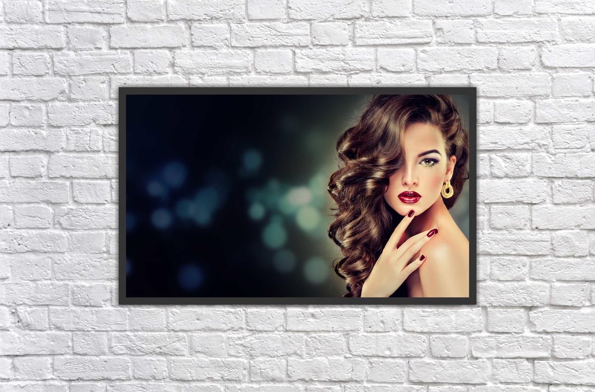 Quadro fashion hair makeup maquiagem beleza salão decorar no