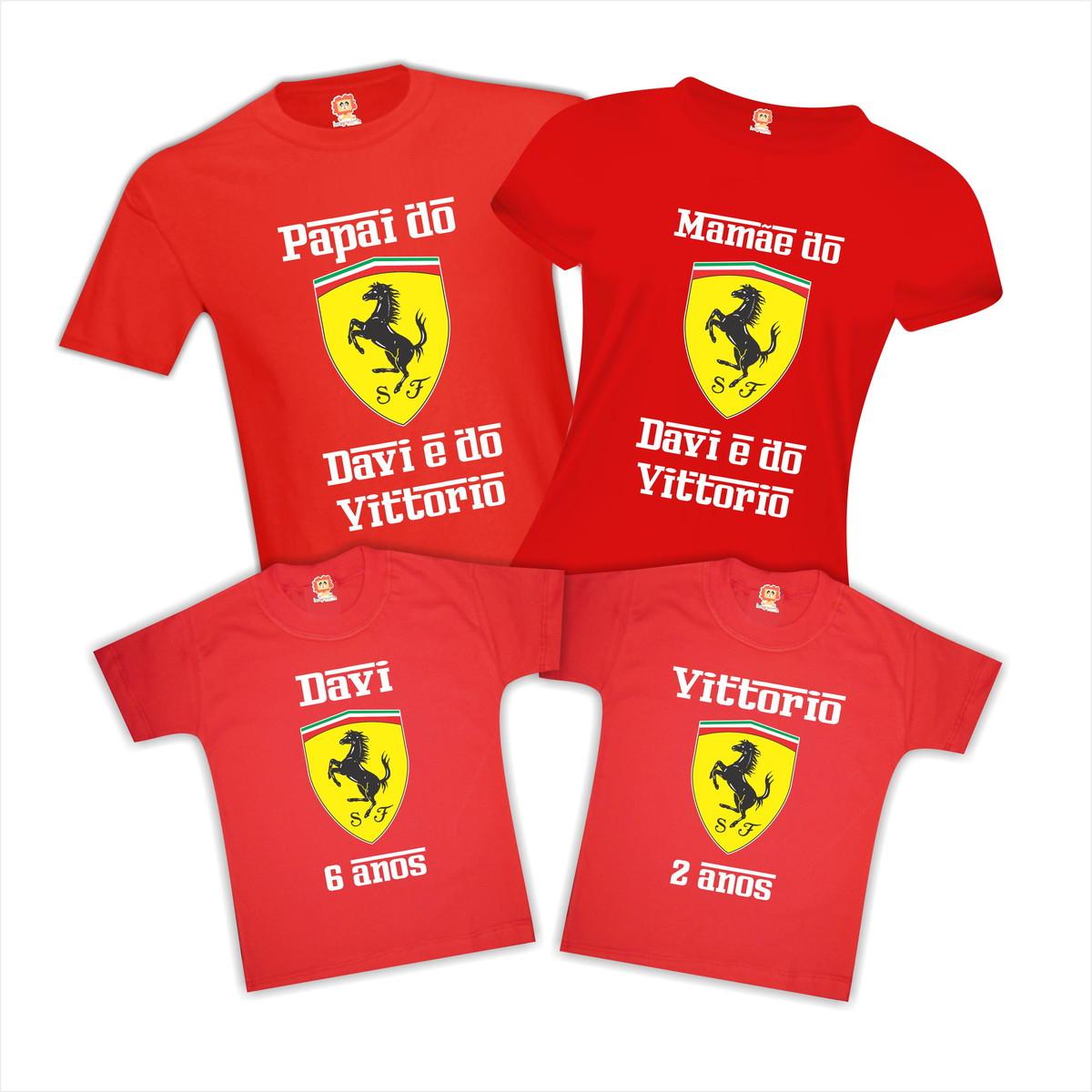 d696a73672151 Kit Camiseta Festa Ferrari no Elo7