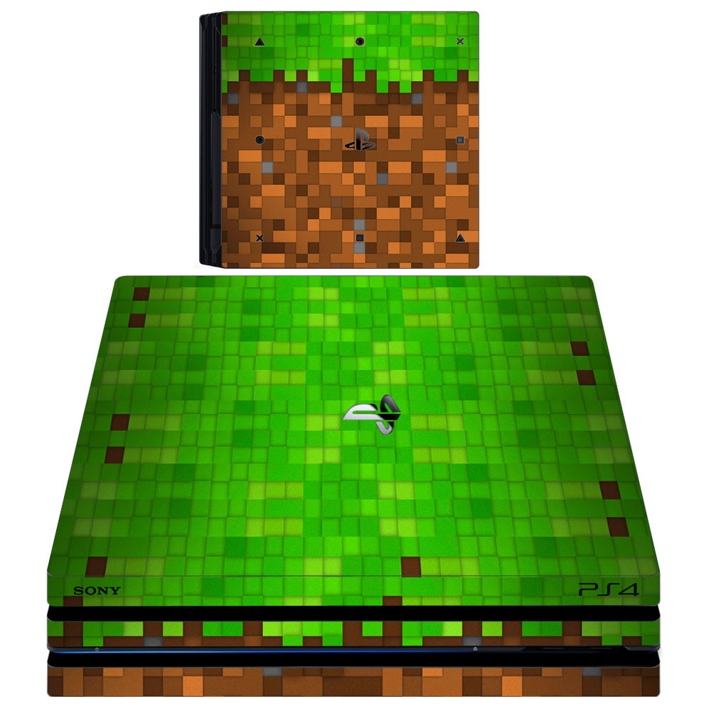 Kit Skin Adesivo Ps Pró Minecraft Controles Light No Elo - Skin para minecraft do zoom