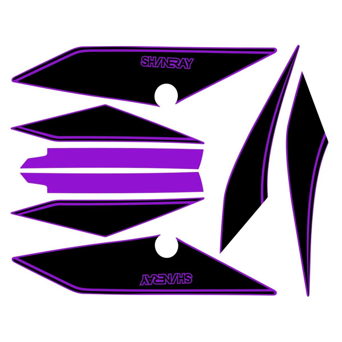 Faixa shineray explorer 150 preto com roxo no Elo7  674105bf019