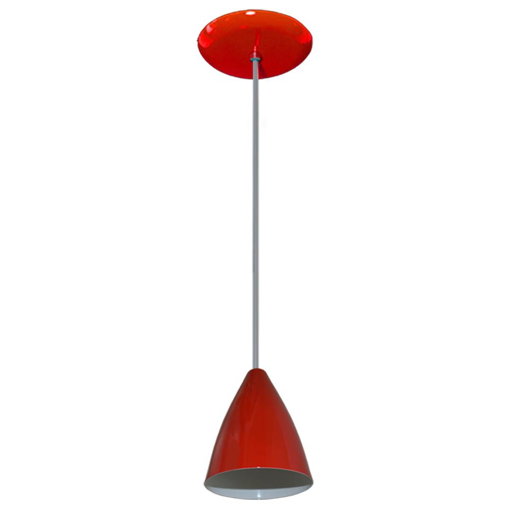 Lustre Pendente Colorido Vermelho Pode Usar Led No Elo7 Lustres  -> Lustre Para Sala De Jantar Vermelho
