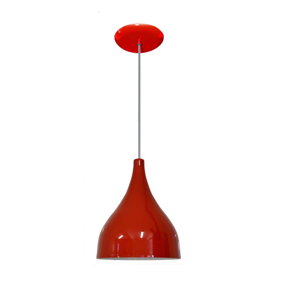 Luminaria Pendente Colorido Funil Vermelho No Elo7 Lustres