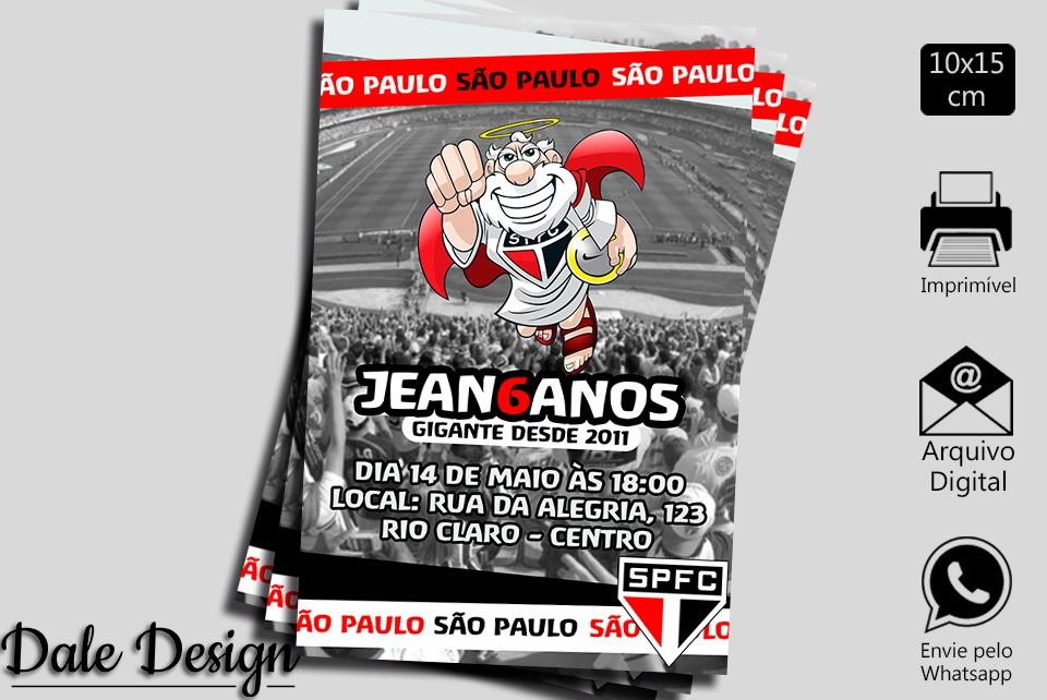 d7d661c7ddae2 CONVITE DIGITAL SÃO PAULO FC no Elo7 | DaleDesign (A60068)