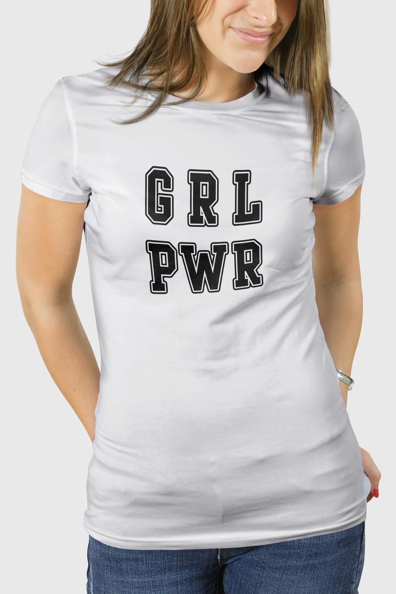 f8883ff76f Camiseta GRL PWR- Fem BW no Elo7