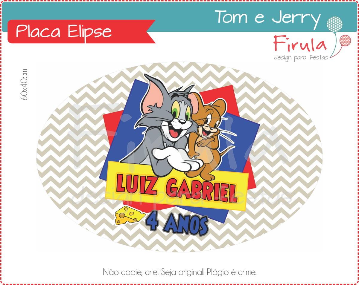 Placa Elipse Digital Tom e Jerry no Elo7  c815edfda6ee6