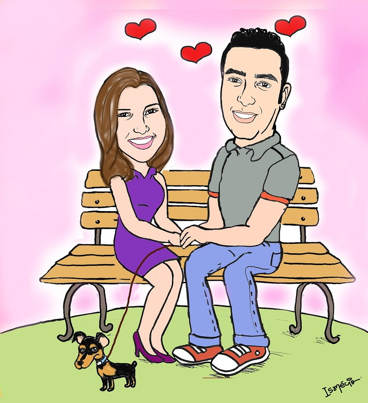 Desenho De Casal De Namorados Caricatura No Elo7 Ismecio