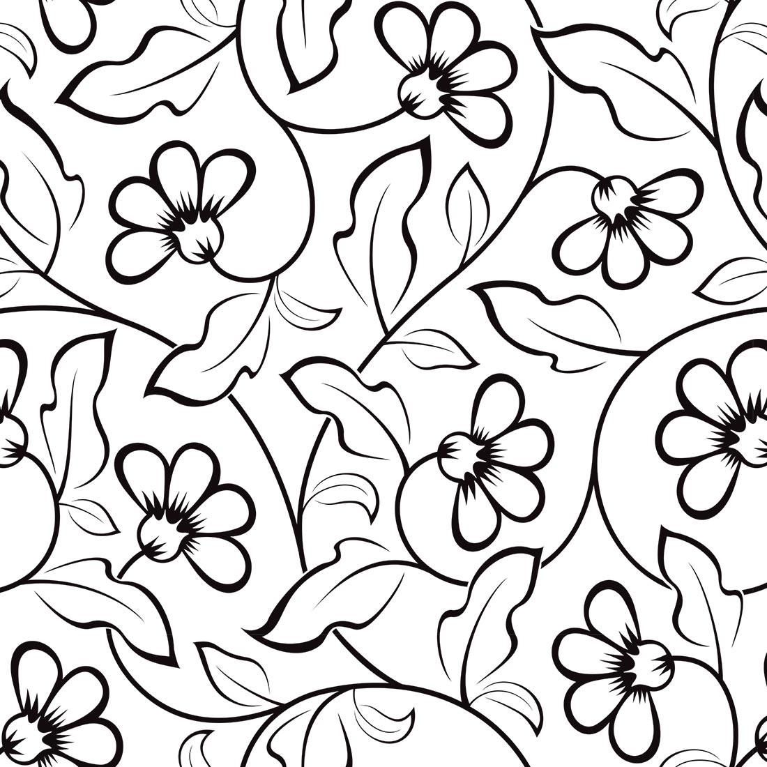 Papel De Parede Floral Folha De Carvalho Preto Fundo Branco No