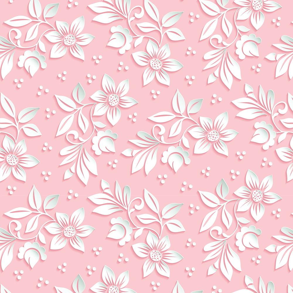 Papel de parede adesivo floral estilo 3d fundo rosa menina for Papel de pared dorado
