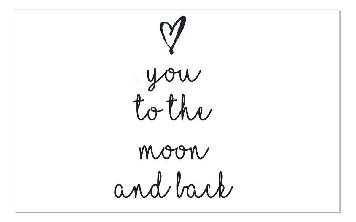 frase de parede arame love you to the moon and back no elo7