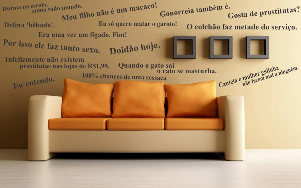 Adesivo Decorativo Frases Serie Dois Homens E Meio No Elo7