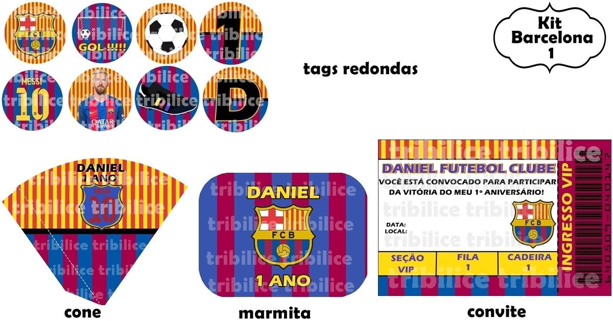 Kit Barcelona 1 no Elo7  fc34959746ac2