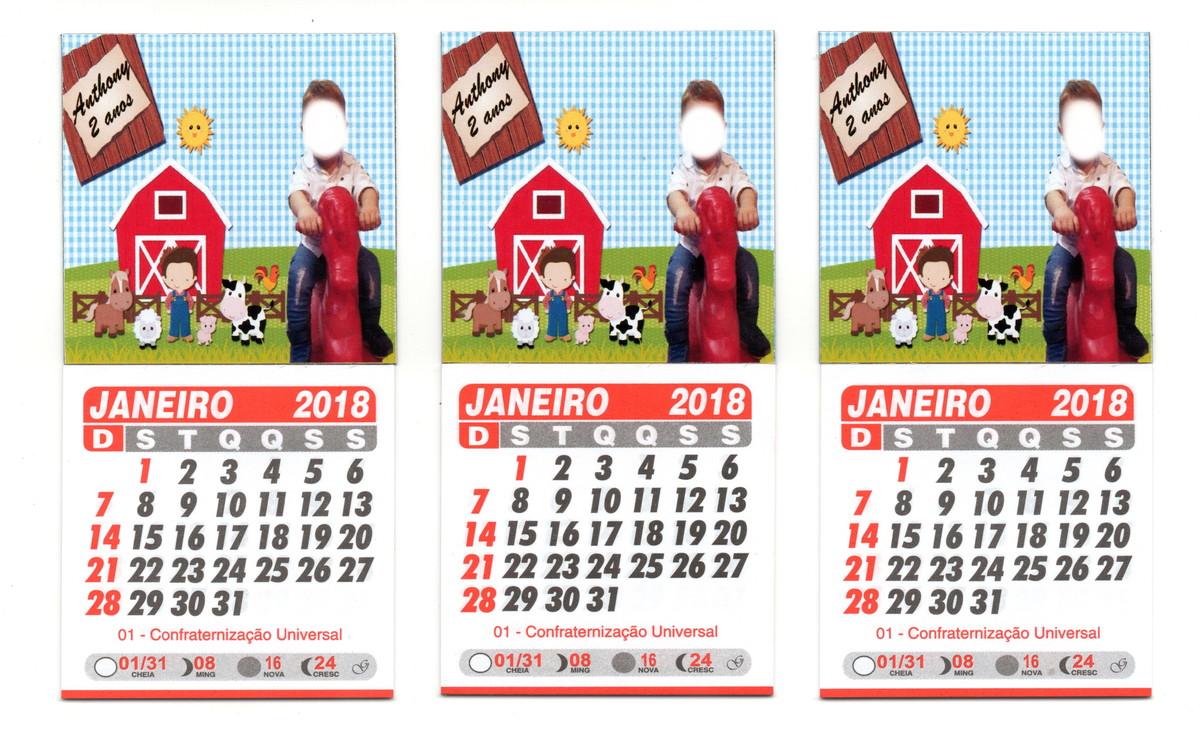 Mini Calendario.20 Unidades Mini Calendario 2018 Personalizado 5x5