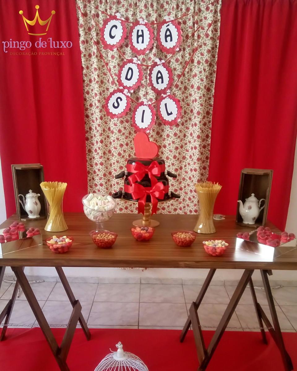 Decoraç u00e3o Chá de Cozinha no Elo7 Pingo de Luxo Decoraç u00e3o Provençal (A7136E) # Decoração De Chá De Panela Simples E Barato