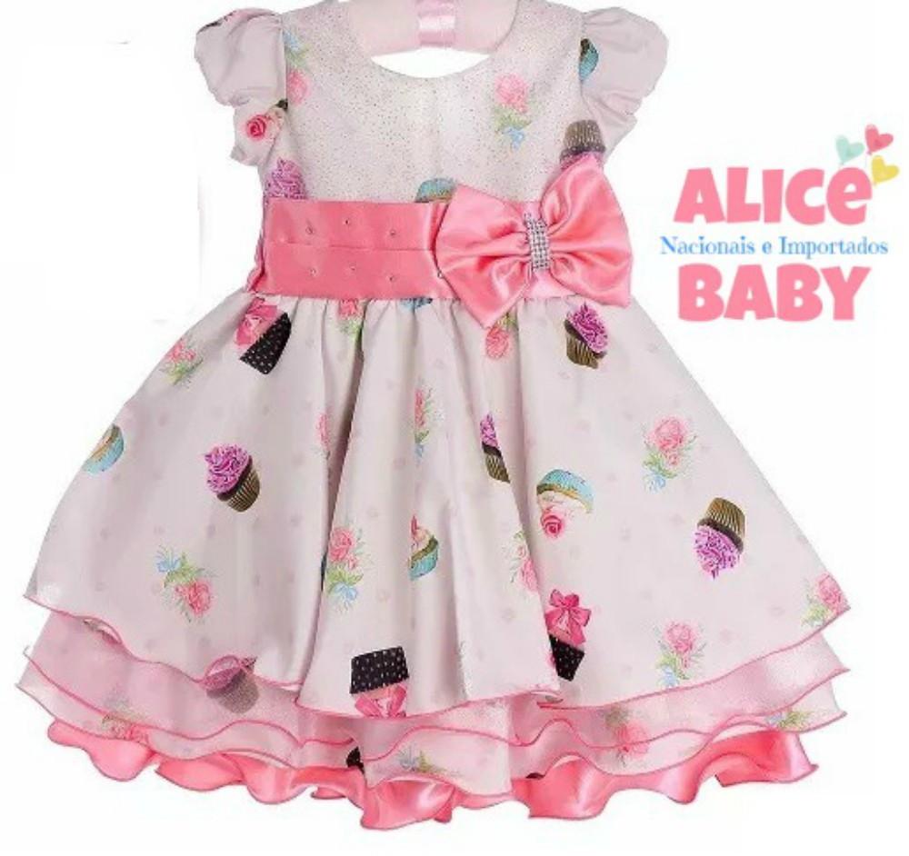 4b9b6ce090e Vestido Festa Cupcake Doceria Confeitaria 1 ANO no Elo7 | Alice Baby ...