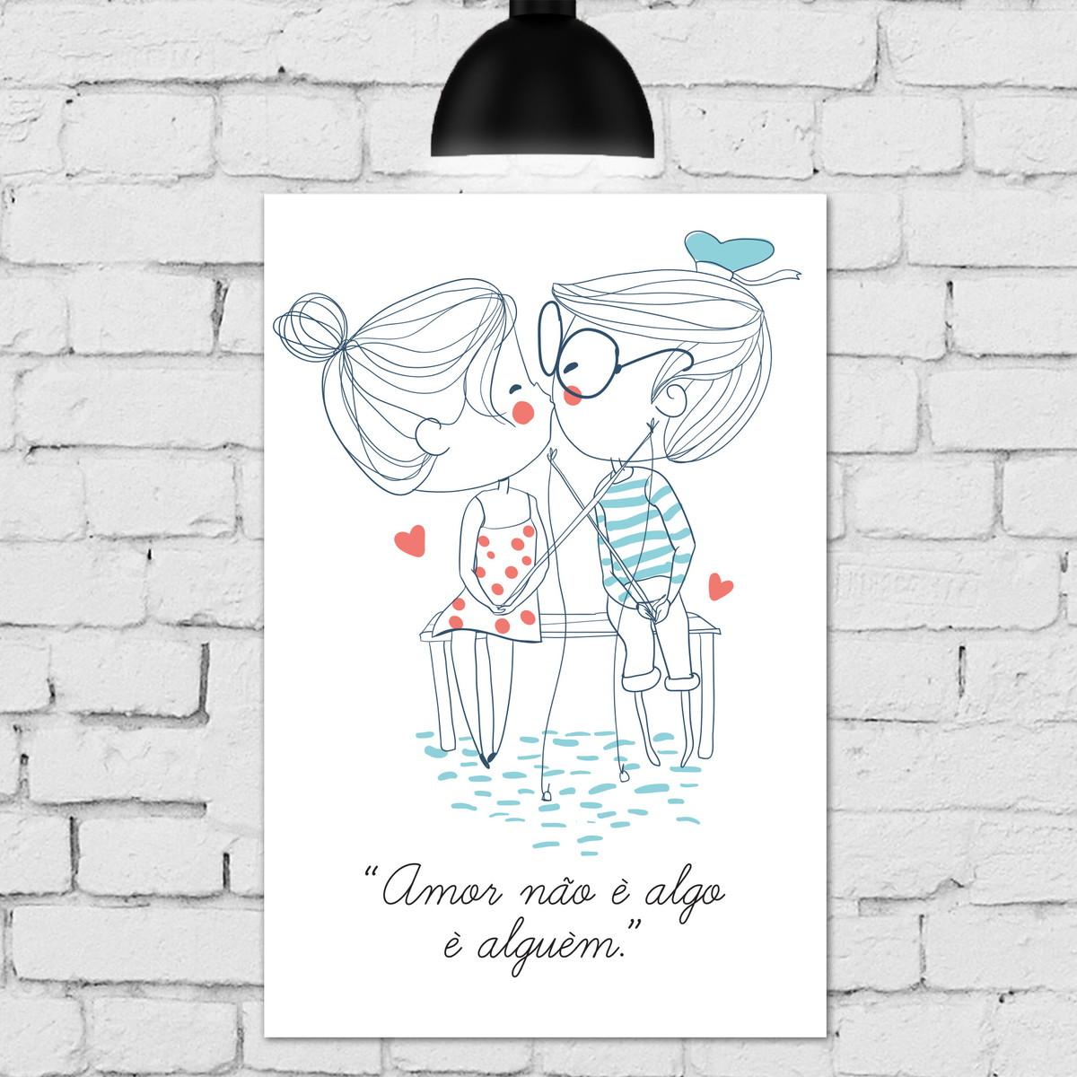 Placa Decorativa Mdf Frase Amor Namorados Pesca 30x40cm No Elo7