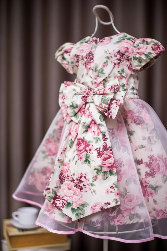 ea5925e586a Vestido de Festa Infantil Floral no Elo7 | AnaGiovanna Vestidos ...