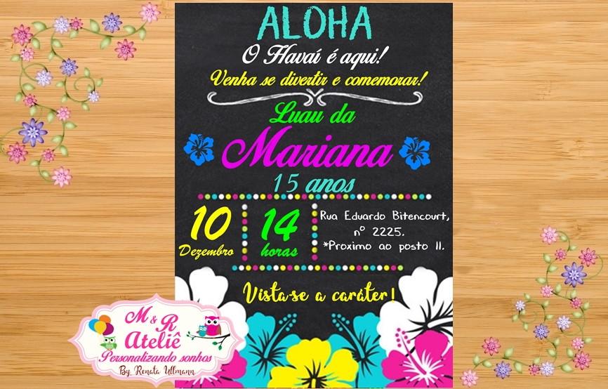 Convite Festa Havaiana 2 No Elo7 Mr Ateli� A79ddfrhelo7br: Cart O De Anivers Rio E Natal Val Ria Garcia At Cicentre.net
