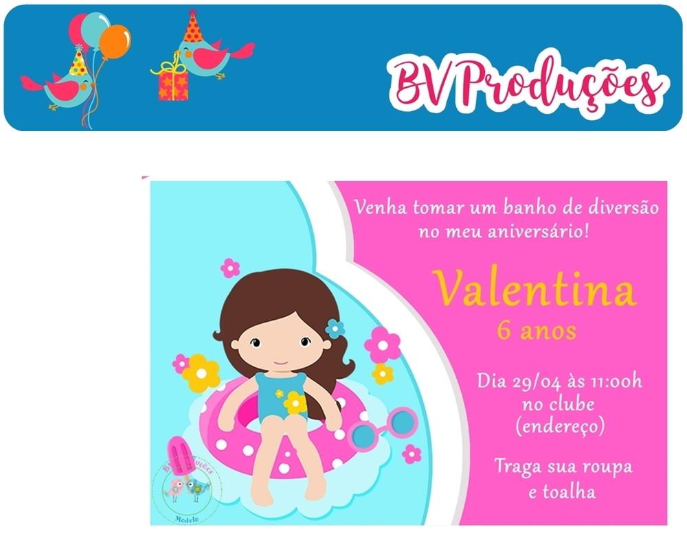 Convite Digital Festa Na Piscina Bv Produ 231 245 Es Elo7