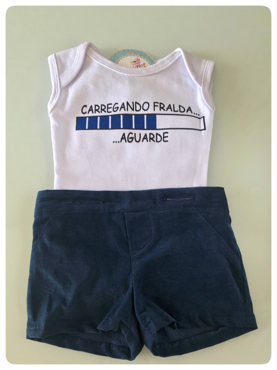 36efdec624 Body infantil - Carregando Fralda personalizado para bebê no Elo7 ...