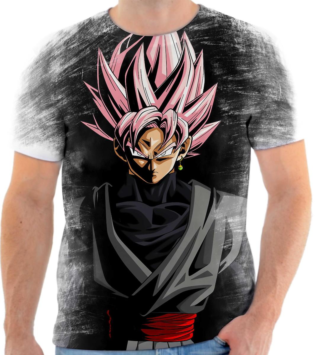 2a074c963 Camiseta Anime Dragon Ball Super Goku Black Full HD 01 no Elo7 ...